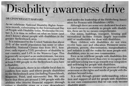 Disability awareness drive